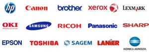 Printer Brands - Cartridges Stocked
